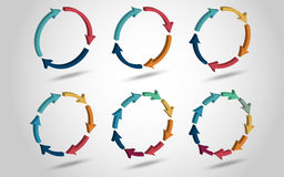 3D circle arrows Royalty Free Stock Image