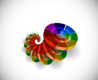 3d circle colorful elements. Vector Illustration Stock Images