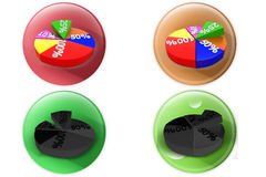 3d circle graph icon Stock Images