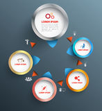3d circle group concept. Vector   for business concepts with  icons / can use for info-graphic / advertising printing/ website / modern template / education Royalty Free Stock Photography