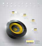 3d circle infographic Stock Images