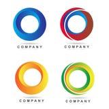3d circle logo. Circle logos icon set vector Royalty Free Stock Photos
