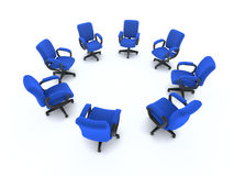 3d Circle of office chairs Royalty Free Stock Photo