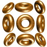 3D circle / ring. Lots of metallic solid  3d circle / ring Stock Photo