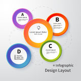 3D Circles bright layout, infographic, vector Royalty Free Stock Photography