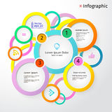 3D Circles bright layout, infographic, vector. Illustration Royalty Free Stock Images