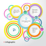 3D Circles bright layout, infographic, vector Stock Image