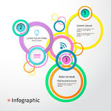 3D Circles bright layout, infographic, vector Stock Photos