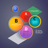 3D Circles bright layout, infographic, vector Royalty Free Stock Image