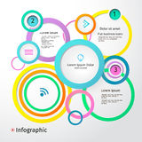3D Circles bright layout, infographic, vector Royalty Free Stock Photo