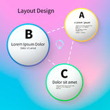 3D Circles bright layout, vector Royalty Free Stock Images