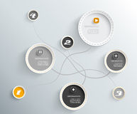 3d circles with shadows. 3d circles with shadows and place for your own text Stock Image