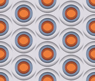 3D Circles, Vector Seamless Pattern. Stock Photo