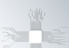 3d circuit board texture Royalty Free Stock Photography