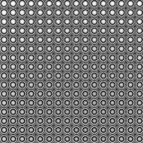 3d circular abstract tiled mosaic backdrop in black and white Royalty Free Stock Image