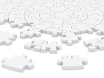 3D circular puzzle. 3D composition of a circular puzzle Stock Images