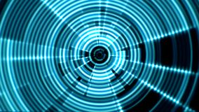 2D Circular Tunnel Portal Vortex Blue Color with Ripple Effect stock video footage