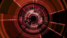 2D Circular Tunnel Portal Vortex Red Orange Violet with Ripple Effect stock video footage