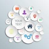 3d circunda gráficos da informação para a disposição do fluxo de trabalho, diagrama, opções do número, design web Foto de Stock