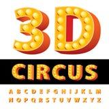 3D circus font Stock Photography