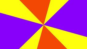 2D cirkel grafisch die patroon dat in ruimte op een achtergrond roteert die in kleur varieert, uit verschillende ventilatorkleure vector illustratie