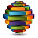 3D Cirkeldiagramgebied Stock Afbeelding