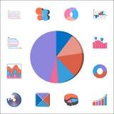 3D Cirkeldiagrampictogram Gedetailleerde reeks Grafieken & Diagramms-pictogrammen Grafisch het ontwerpteken van de premiekwalitei royalty-vrije illustratie