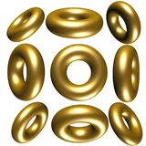 3d cirkels Stock Foto