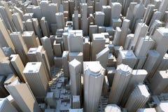 3d città - vista da sopra Fotografia Stock Libera da Diritti