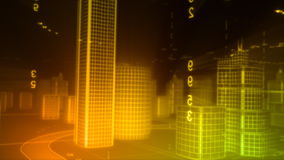 3d city stock footage