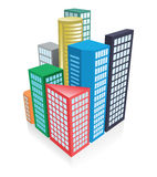 3d city concept. Vector illustration of the 3d city concept Stock Photos