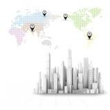 3d city. Vector illustration of city landscape Stock Photos