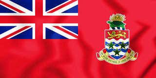 3D Civil Ensign of the Cayman Islands. Stock Photos