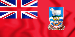 3D Civil Ensign of the Falkland Islands. Royalty Free Stock Photo