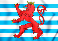 3D Civil Ensign of Luxembourg. Stock Image
