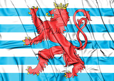 3D Civil Ensign of Luxembourg. Royalty Free Stock Photos