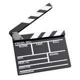 3d Clapperboard Royalty Free Stock Images