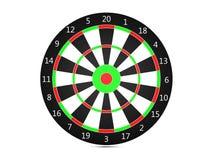 Classic Darts Board. 3d Classic Darts Board  on white Stock Photos