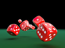 3d classic dice Stock Photography