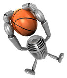 3D Classic Microphone a dunks with both hands. 3D Classic Microp Stock Images