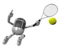 3D Classic Microphone is a powerful tennis game play exercises. Stock Photos