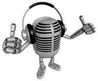 3D Classic Mike has enjoyed the music. 3D Classic Microphone Rob Stock Image