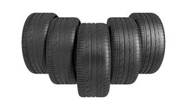 3d classic tyre Royalty Free Stock Image