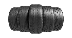 3d classic tyre Royalty Free Stock Photography