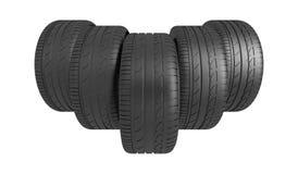 3d classic tyre Stock Photos