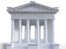 3d classical roman temple Stock Photography