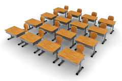 3d classroom Stock Image