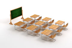3d classroom Royalty Free Stock Photography