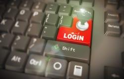 3d clavier - login fixé Photo stock