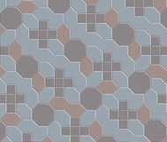 3D clay brick pattern floor-08 Stock Photos